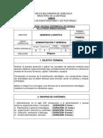 Maestria Gerencia de Logistica (Unefa)