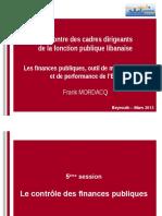 Les Finances Publiques, Outil de Modernisation Et de Performance de l'Etat