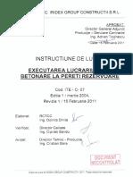 ITE-C-07 Betonare Pereti Rezervoare Ed 1 Rev 1DNC