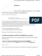 How to Analize St12 Abap Trace to Tune Sap Program Performance