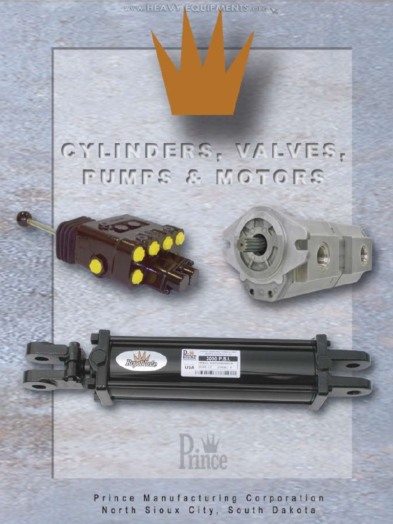 Catalog Prince Hydraulic Cylinders Valves Pump Motors Accessories Sullair 185 Wiring Diagram Accessoriespdf Piston Valve