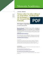 Lamoso, Adriana- Notas Sobre La Vida Cultural en Argentina- Radiografía de La Pampa y Otros Escritos de Ezequiel Martíez Estrada