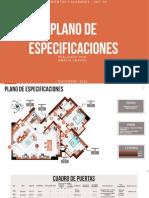 Planos de Especificaciones - Amalia Chaviel
