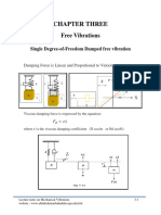 Mechanical Vibrations Single Degree-Of-Freedom Damped Free Vibration (Chapter TREE)