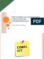 Prevenirea Și Gestionarea Conflictelor Interpersonale
