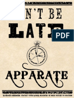 Don't be late. Apparate