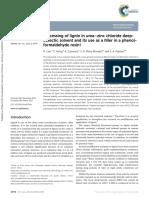 Processing of Lignin in Urea–Zinc Chloride Deepeutectic