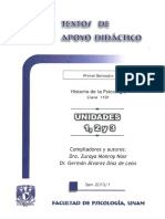 Historia de La Psicologia Unidades 1 2 y 3 Alvarez Diaz y Monroy Nars