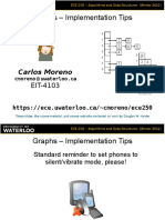 Graphs Implementation Tips