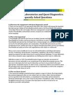 PeaceHealth Laboratories and Quest Diagnostics