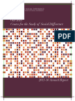 2016 Annual Report for Center for the Study of Social Difference