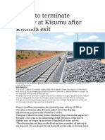 Kenya to Terminate Railway at Kisumu After Rwanda Exit