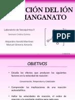 Presentación Reducción Del Permanganato