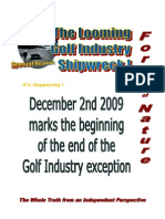 Force of Nature -- The Looming Golf Industry Shipwreck -- Special Report -- P.E.I. -- 2009 12 02 -- MODIFIED -- PDF -- 300 Dpi