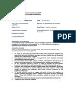 01 July 2010 Vacancy Notice - Clerk II Logistics)