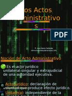 Los Actos Administrativos