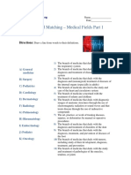 Advanced Matching - Medical Fields Part 1