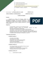 Plano de Ensino Psicologia 2011.1 Fisioterapia