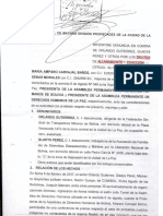 Denuncia ante la Fiscalía por allanamiento y coacción - Feb 2017