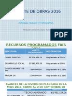 Reporte de Obras 2016-Presentacion