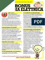 Locandina Bonus Energia Elettrica e Gas