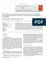 The Evaluation of Viscosity and Density of Blends of Cyn-diesel Pyrolysis Fuel With Conventional Diesel Fuel in Relation to Compliance With Fuel Specifications en 590 2009