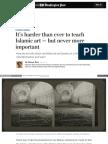 It's harder than ever to teach Islamic art