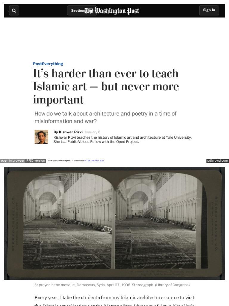 it s harder than ever to teach islamic art baghdad damascus