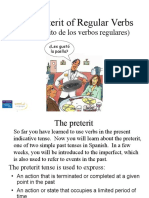the preterit of regular verbs