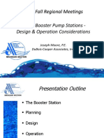Water Booster Station Design Operation
