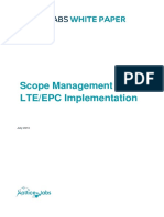 WP Scope Management for LTE EPC Implementation