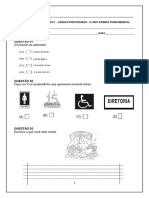 AVALIAÇÃO DIAGNÓSTICA – LÍNGUA PORTUGUESA - Ñ ALFABETICO.pdf