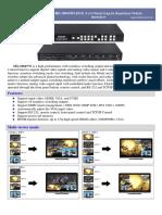 MX-1004VW HDMI 4x4 Mixed Inputs Seamless Matrix Switcher