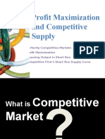 Profit Maximization and Competitive Market