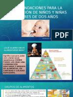 Recomendaciones Para La Alimentación de Niños y Niñas