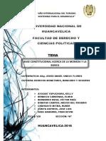Base Consttitucional Acerca de La Moneda y La Banca