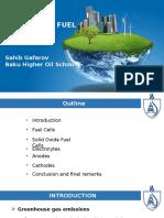 SOlid Oxide Fuel Cells Sahib Gafarov