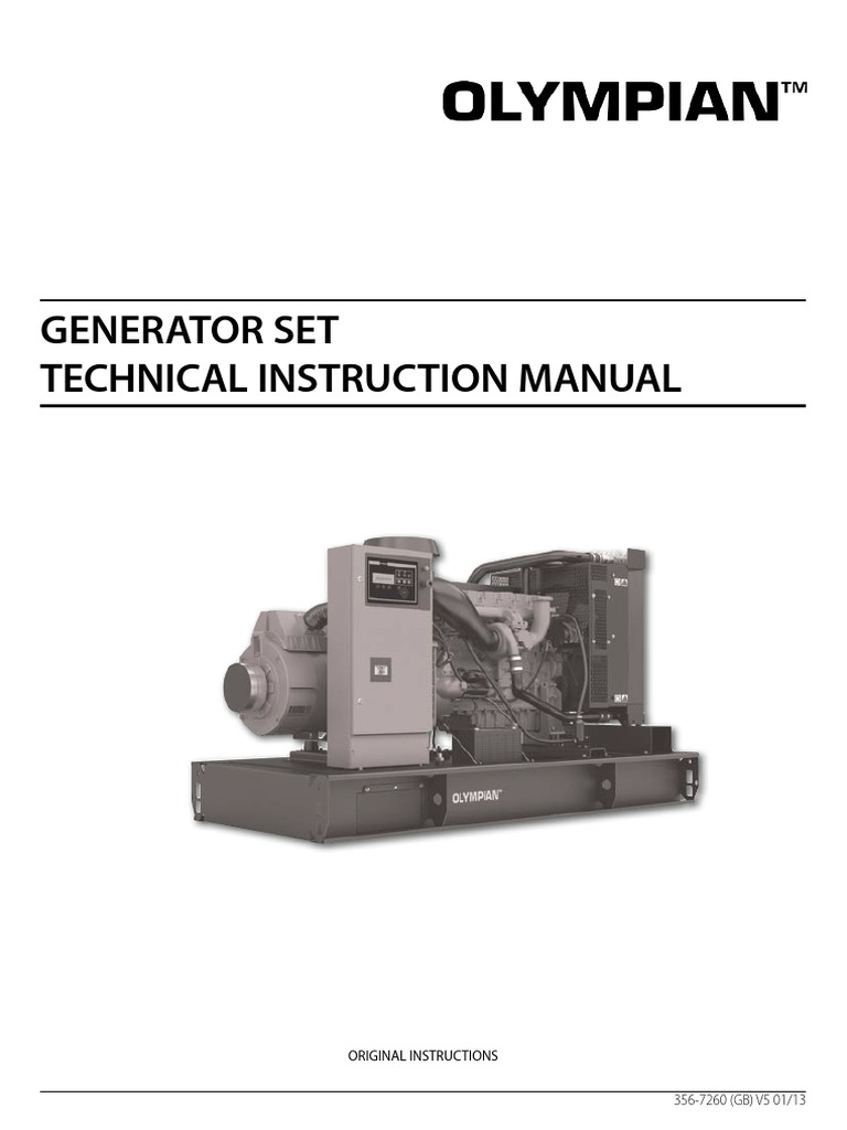 olympian international diesel genset technical manual personal rh es scribd com