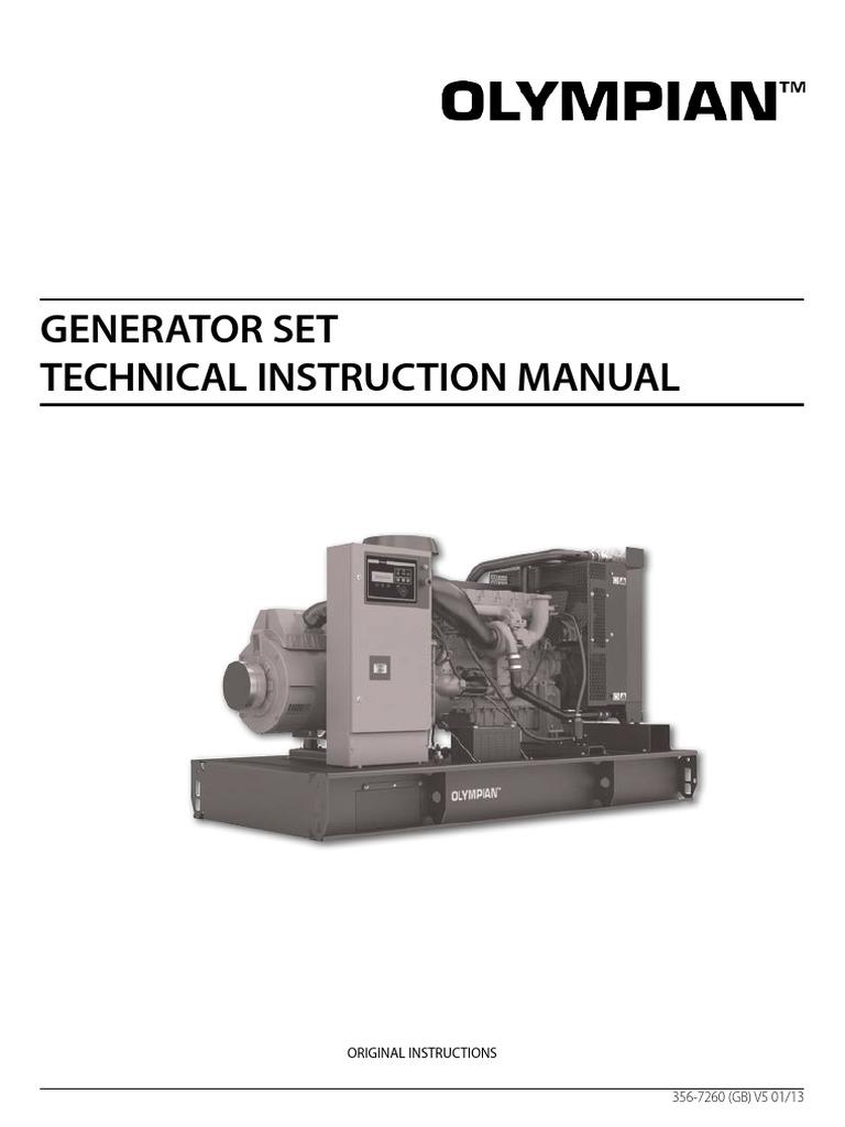 olympian international diesel genset technical manual personal rh es scribd com Honda Generator Manual Electric Generators Manual