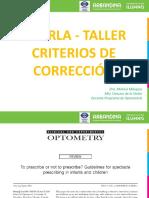 Charla - Taller Criterios de Correccion