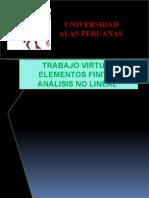 TRABAJO VIRTUAL ELEMENTOS FINITOS -     ANÁLISIS NO LINEAL