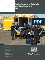 (UC Labor Center Report) Emergency Medical Services in California- Wages, Working Conditions, And Industry Profile