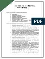 Clasificación de Las Tiendas Detallistas