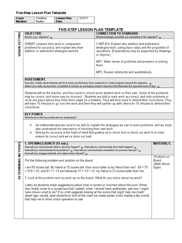 Striving For Accuracy Lp Lesson Plan Educational Assessment