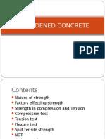 Harden Concrete