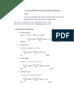 Perencanaan Dan Perhitungan Alinyemen Vertikal