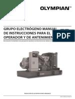 Olympian International Diesel Genset Operator Manual - Spanish 356-7234
