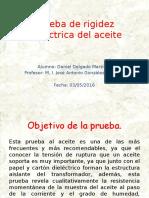 4.2 Prueba de Rigidez Dieléctrica Del Aceite