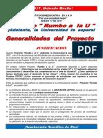 Proyecto Rumbo a La u Generalidades 2017