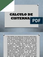 Calculo de Cisternas